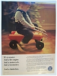 1967 Mattel See N' Say Ride Away w/Boy Riding Toy