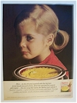 1966 Lipton Chicken Noodle Soup Mix with Girl Smiling