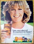 1984 Lipton Tea Bags with Tennis Star Chris Evert Lloyd