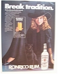 1982 Ronrico Rum with a Woman Dressed Like a Witch