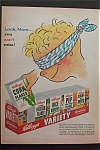 1953 Kellogg's Variety Pack with the 10 Pack of Cereal