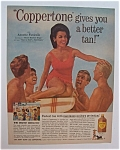 1965 Coppertone Suntan Lotion with Annette Funicello