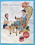 1954 Coca Cola (Coke) with Woman Talking to a Girl