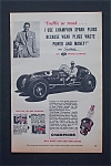 Click here to enlarge image and see more about item 415: Vintage Ad: 1954 Champion Spark Plugs w/Sam Hanks