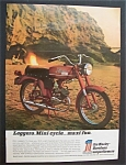 Click here to enlarge image and see more about item 4214: 1971 Harley Davidson Motorcycle with 65cc Leggero
