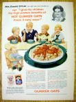 Click to view larger image of 1954 Quaker Oats with 5 Children Eating Cereal (Image1)