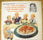 Click to view larger image of 1954 Quaker Oats with 5 Children Eating Cereal (Image2)