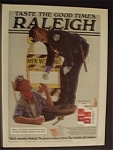 1977 Raleigh Cigarettes w/Police Officer & Sewer Worker