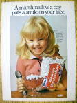 1977 Kraft Miniature Marshmallows w/Little Girl Smiling