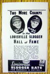 Click to view larger image of 1944 Louisville Slugger Bats w/ Stan Musial & Rudy York (Image1)