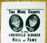 Click to view larger image of 1944 Louisville Slugger Bats w/ Stan Musial & Rudy York (Image2)