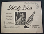 1944 Blatz Beer with Woman Playing a Harp