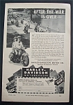 1944 Harley-Davidson Motorcycles w/Man & Woman