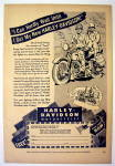 1944 Harley-Davidson Motorcycles w/Two Men & Motorcycle