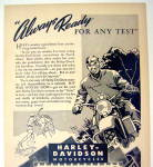 Click to view larger image of 1944 Harley-Davidson Motorcycles with Man & Motorcycle (Image2)