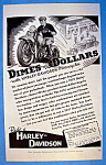 1937 Harley Davidson Motorcycle with Man & Motorcycle