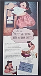 Vintage Ad: 1947 Dan River Sheets