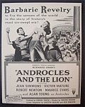 1952  Movie  Ad  for  Androcles  And  The  Lion