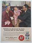 1948 White House Evaporated Milk w/Woman & Man