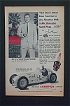 Click here to enlarge image and see more about item 444: Vintage Ad: 1955 Champion Spark Plugs w Jim Bryan