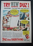 1948 Duz Laundry Detergent with Woman & Laundry