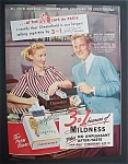 1952  Chesterfield  Cigarettes  with  William  Lundigan