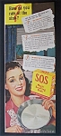 1946  S. O. S.  Magic  Scouring  Pads