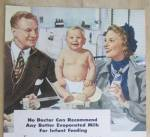 Click to view larger image of 1948 White House Evaporated Milk with Doctor & Baby (Image3)