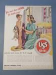 Vintage Ad: 1946  USS  Steel