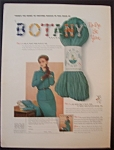 1949 Botany Brand Yarn with Woman In A Dress