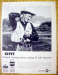 1959 Off Insect Repellent with Man Fishing