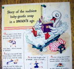 Click to view larger image of 1943 Swan Soap with Story Of Sudsiest Baby Gentle Soap (Image2)