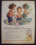 1959 Simoniz Vinyl Floor Wax w/Children as Indians