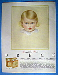 1956 Breck Shampoo with Breck Blond Haired Baby Girl