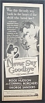 1956  Movie  Ad  for  Never  Say  Goodbye