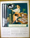 Click to view larger image of 1930 1847 Rogers Bros. Silverplate w/ Woman As Pirate (Image1)