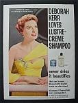 1957  Lustre  Creme  Shampoo  with  Deborah  Kerr