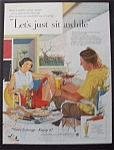 Click here to enlarge image and see more about item 4942: Vintage Ad: 1956 Beer Belongs By Douglas Crockwell