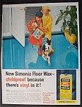 Click to view larger image of Vintage Ad: 1958 Simoniz Floor Wax (Image1)