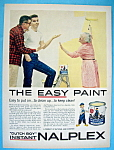 1958 Dutch Boy Nalplex Paint w/Older Woman Painting