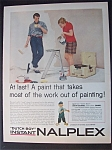 1958 Dutch Boy Nalplex Paint w/Man Holding Paint Roller