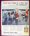 Click to view larger image of Vintage Ad: 1957 Simoniz Floor Wax (Image1)