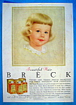 Click to view larger image of Vintage Ad: 1957 Breck Shampoo (Image1)