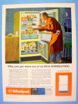 Click to view larger image of 1959 RCA Whirlpool Refrigerator with Man Having A Snack (Image1)