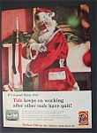 1959 Tide Laundry Detergent w/Santa Claus & Dirty Suit
