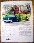 Click to view larger image of 1955 Chevrolet with Man Carrying Plants To Man In Car (Image1)