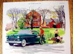 Click to view larger image of 1955 Chevrolet with Man Carrying Plants To Man In Car (Image2)