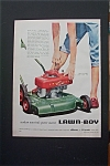 1955  Lawn Boy Lawn Mower with Woman's Hand