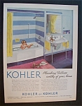 Click to view larger image of 1952 Kohler Of Kohler with Boy Playing in Bathtub (Image1)