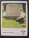 Click here to enlarge image and see more about item 5270: Vintage Ad: 1965 Rock Of Ages By Norman Rockwell